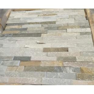 Stacked stone , White Quartz, Black Quartz, Rustic slate, Ivory White, Sandstone white
