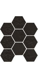 Lace Hexagon Matt Mosaic