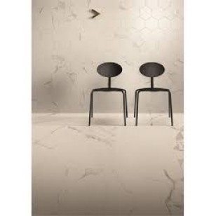 EUROMARMO STATUARIO VENATO  HONED GLAZED PORCELAIN TILE, Made in Italy